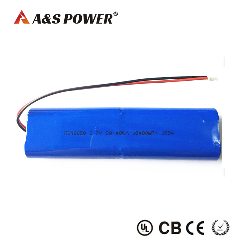 3.7V 10400mah 18650 lithium ion battery