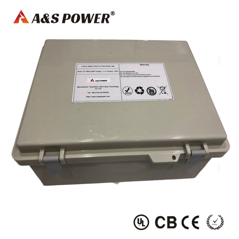 11.1V 150AH 3S58P lithium ion battery
