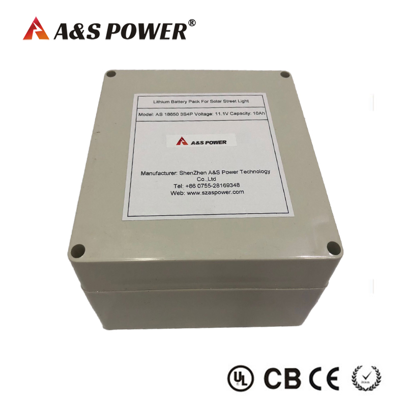 11.1V 10AH 3S4P lithium ion battery