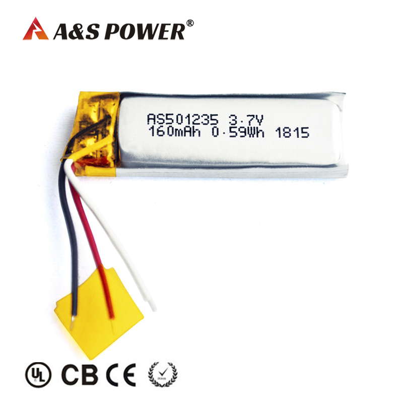UL CB KC BIS 501235 3.7v 160mah lithium polymer battery