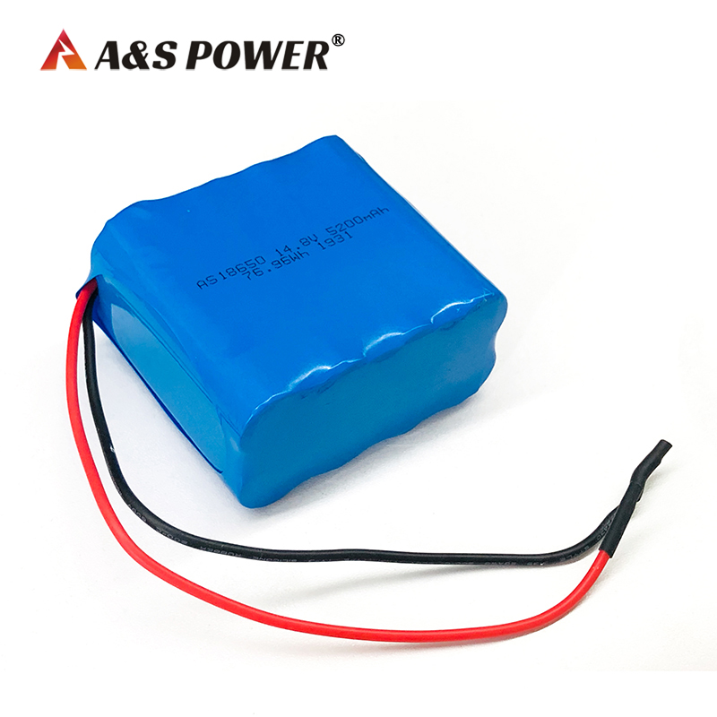 18650 14.8V 5200mAh li-ion battery pack with pcm