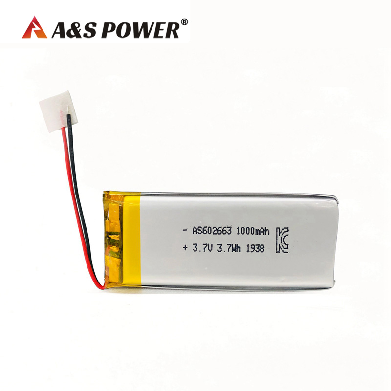 UL IEC62133 KC Certification approval 602663 3.7v 1000mah lithium polymer battery