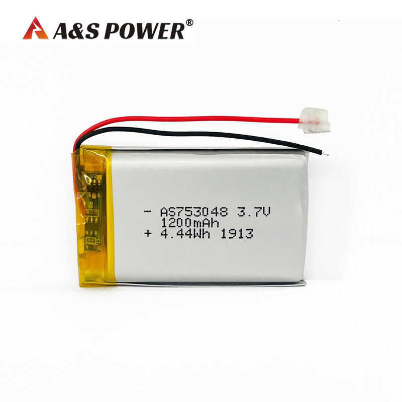 UL KC 753048 3.7V 1200mah lithium polymer battery
