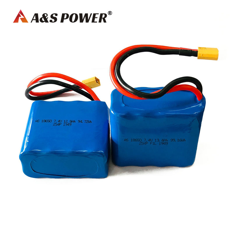 18650 7.4v 12.8ah 13.4ah li-ion battery pack