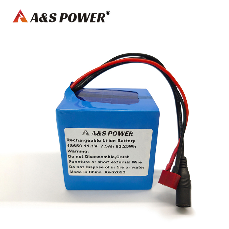 11.1v 7500mah lithium battery with IEC62133 certification