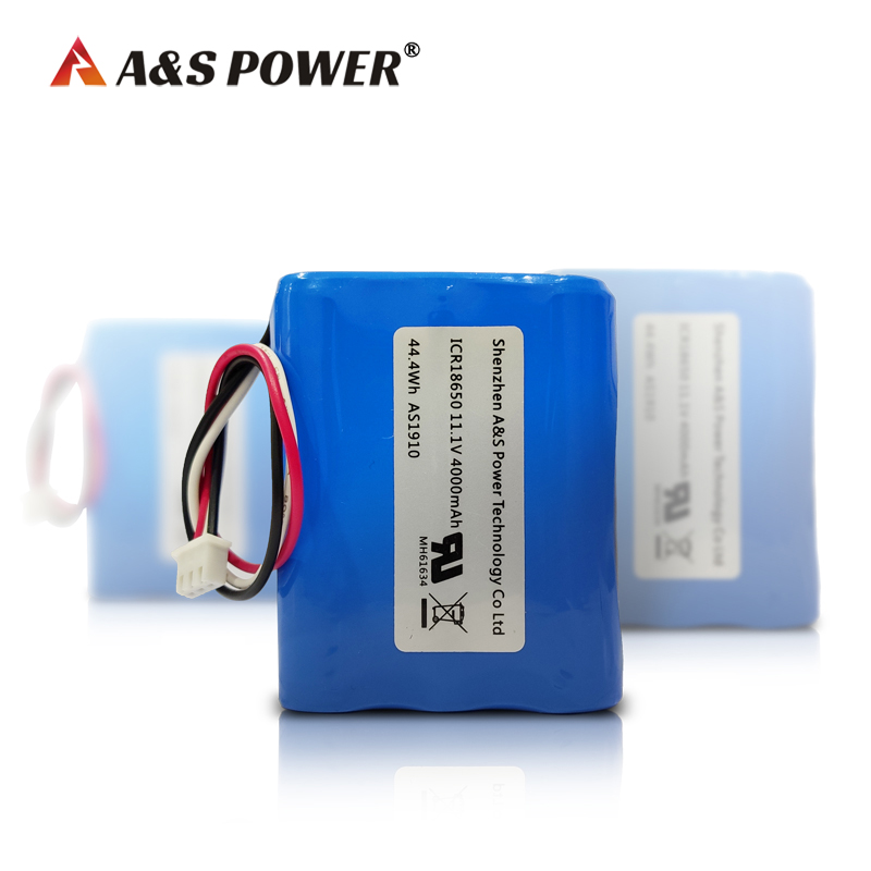 UL2054 certified 18650 3S2P 11.1V 4ah Li-ion Battery Packs